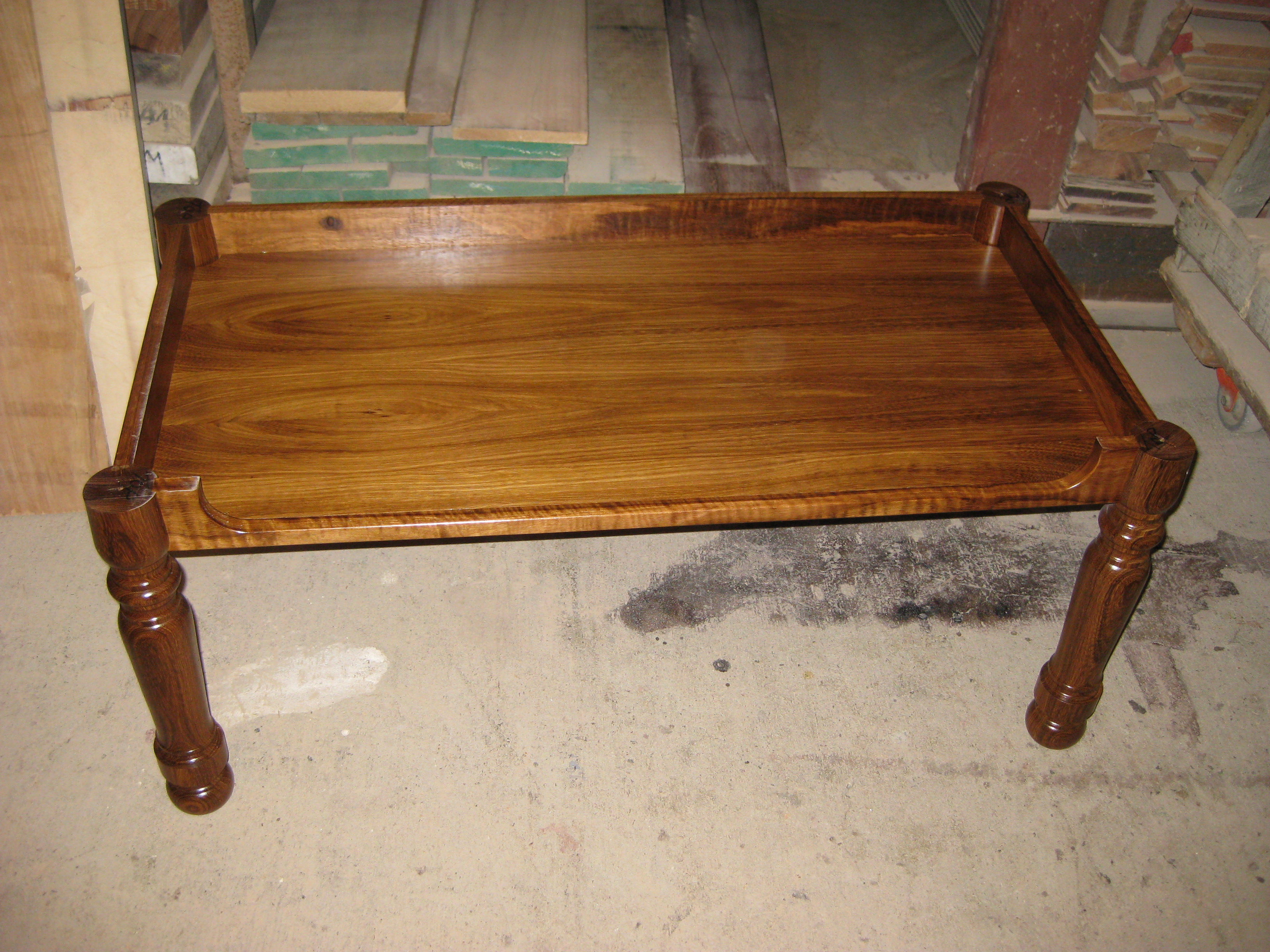 Blackbean Coffee Table Base With Turned Legs