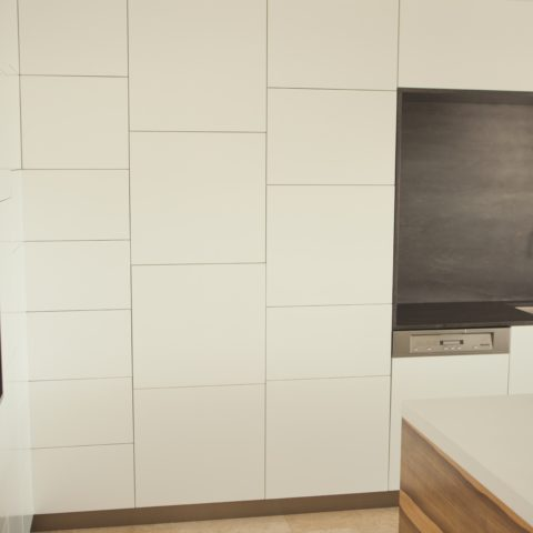 Corian kitchen door and surfaces