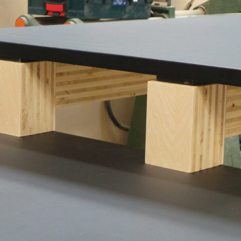 Enviromentally friendly custom E-ply frames with linoleum benchtops