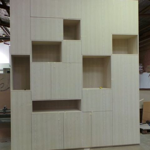 Man made veneer wall unit of gargantuan proportions